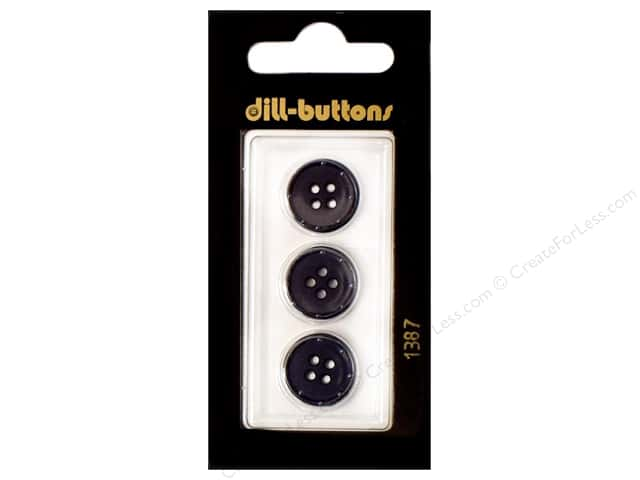 Dill 4 Hole Buttons 5/8 in. Navy #1387 3pc.