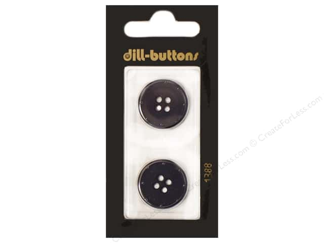 Dill 4 Hole Buttons 13/16 in. Navy #1388 2pc.