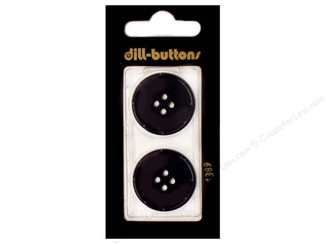 Dill 4 Hole Buttons 1 in. Navy #1389 2pc.