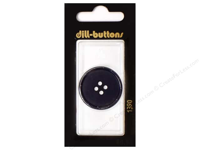 Dill 4 Hole Buttons 1 1/8 in. Navy #1390 1pc.