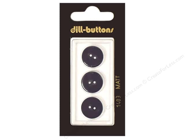 Dill 2 Hole Buttons 5/8 in. Navy #1403 3pc.