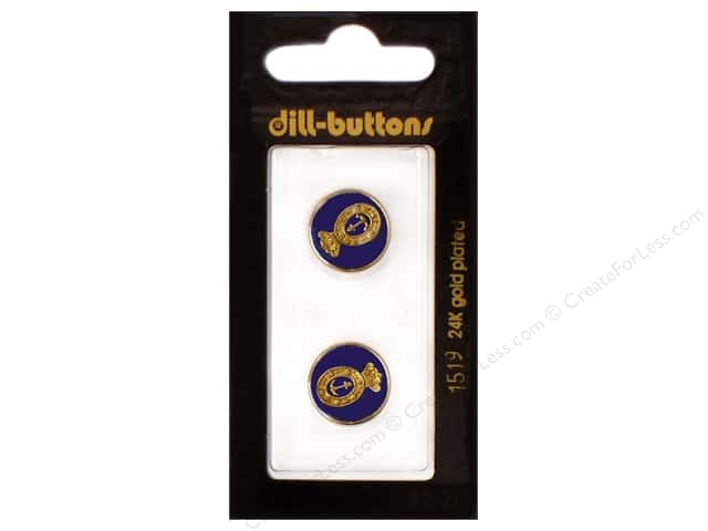 Dill Shank Buttons 5/8 in. Enamel Navy #1519 2pc.