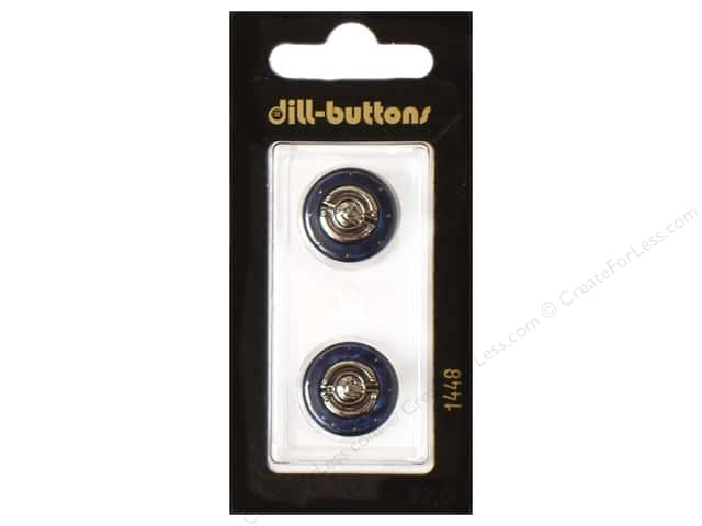 Dill Shank Buttons 11/16 in. Metal Navy #1448 2pc.