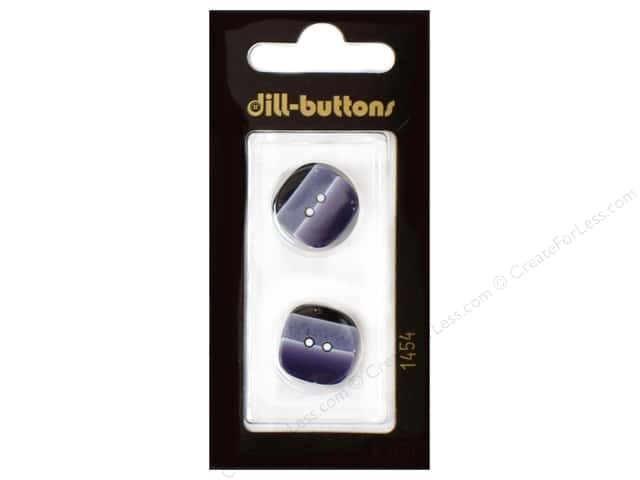 Dill 2 Hole Buttons 11/16 in. Navy #1454 2pc.