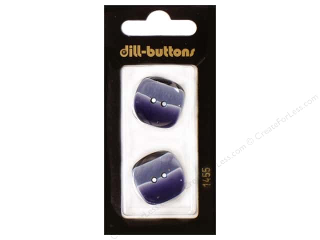 Dill 2 Hole Buttons 7/8 in. Navy #1455 2pc.