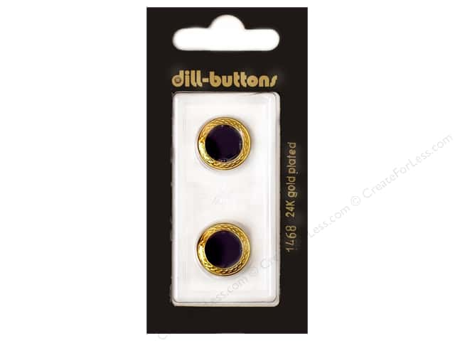 Dill Shank Buttons 5/8 in. Enamel Navy #1468 2pc.