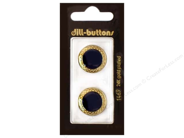 Dill Shank Buttons 13/16 in. Enamel Navy #1469 2 pc.