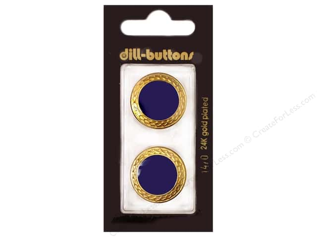 Dill Shank Buttons 7/8 in. Enamel Navy #1470 2pc.
