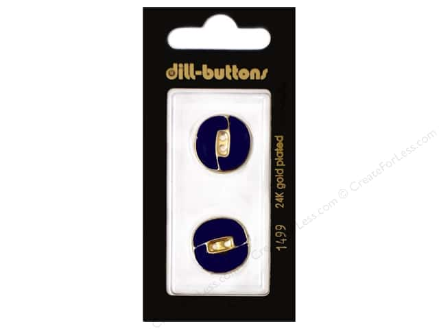 Dill 2 Hole Buttons 7/8 in. Enamel Navy #1499 2pc.