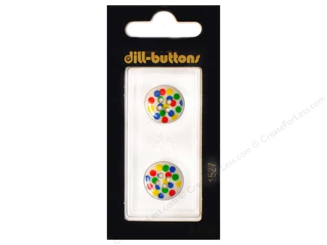 Dill 4 Hole Buttons 5/8 in. Polka-Dots #1527 2pc.