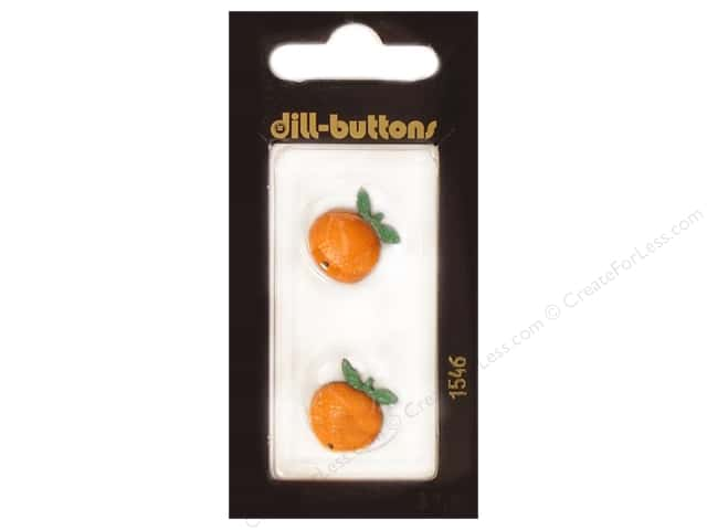 Dill Shank Buttons 11/16 in. Orange Fruit #1546 2pc.