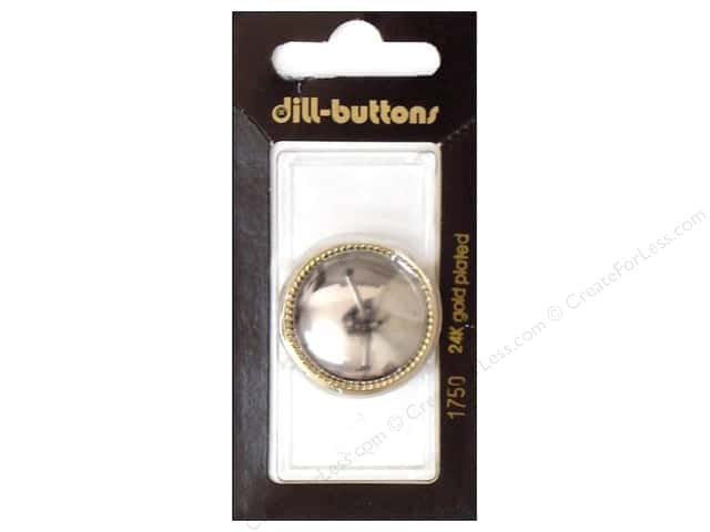 Dill Shank Buttons 1 1/8 in. Silver #1750 1pc.