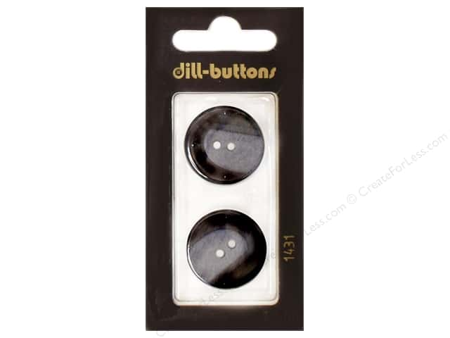 Dill 2 Hole Buttons 7/8 in. Navy #1431 2pc.