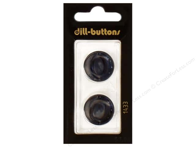 Dill Shank Buttons 13/16 in. Navy #1433 2pc.