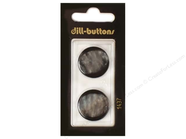 Dill Shank Buttons 7/8 in. Black #1437 2 pc.