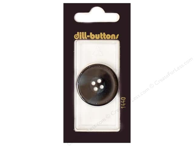Dill 4 Hole Buttons 1 1/8 in. Navy #1440 1pc.