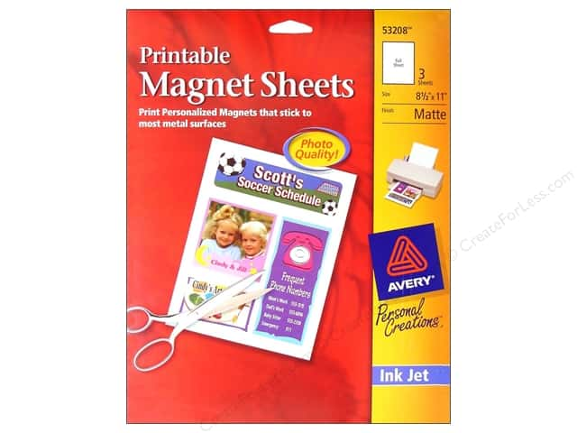 Avery Printable Magnet Sheets 8 1/2 x 11 in. White 3 pc.