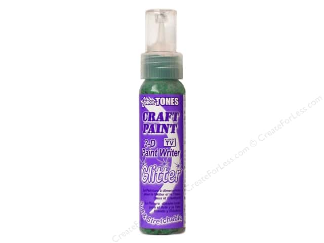 Jones Tones Craft Paint 3-D Writer 2oz Glitter Holiday Green