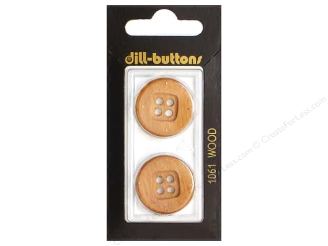 Dill 4 Hole Buttons 7/8 in. Wood Brown #1061 2pc.