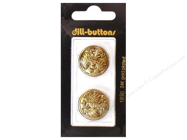 Dill Shank Buttons 7/8 in. Antique Gold #1890 2pc.