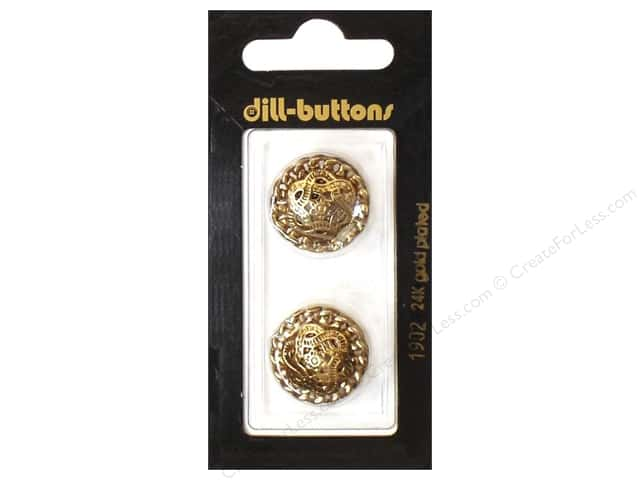Dill Shank Buttons 13/16 in. Antique Gold Metal #1902 2pc.