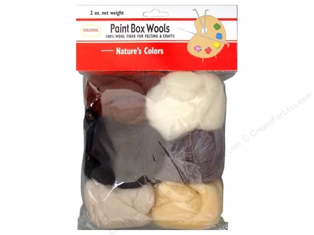 Colonial Needle Paint Box Wools Natures Colors 6 pc