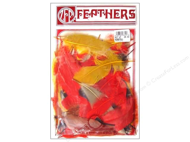 Zucker Feather Goose Satinettes Feathers 1/4 oz. Fall Mix