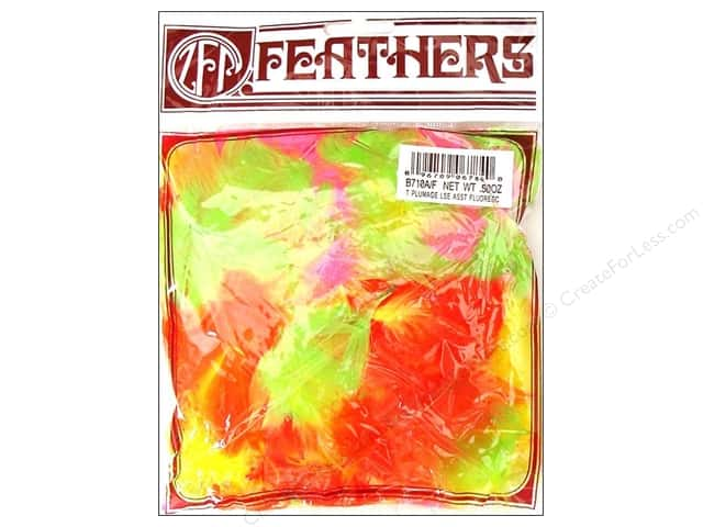 Zucker Feather Turkey Plumage Feathers 1/2 oz. Fluorescent Mix