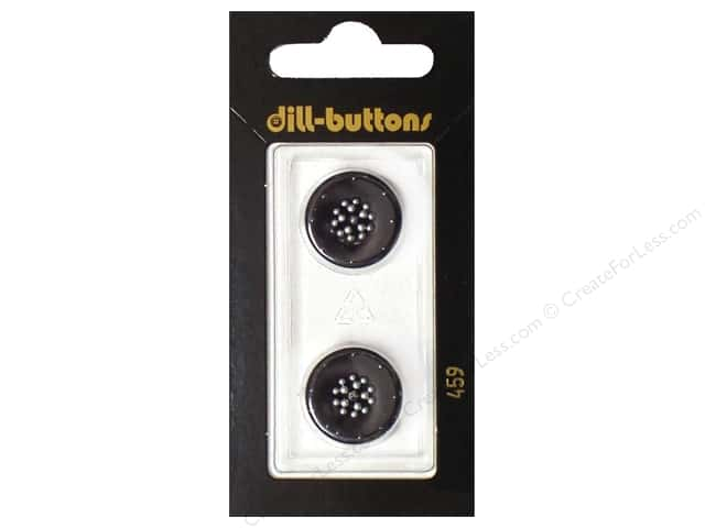 Dill Shank Buttons 11/16 in. Black #459 2pc.