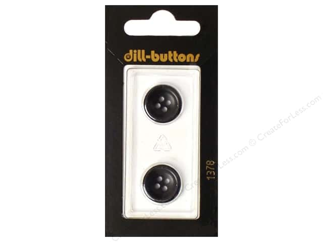 Dill 4 Hole Buttons 5/8 in. Navy #1378 2pc.