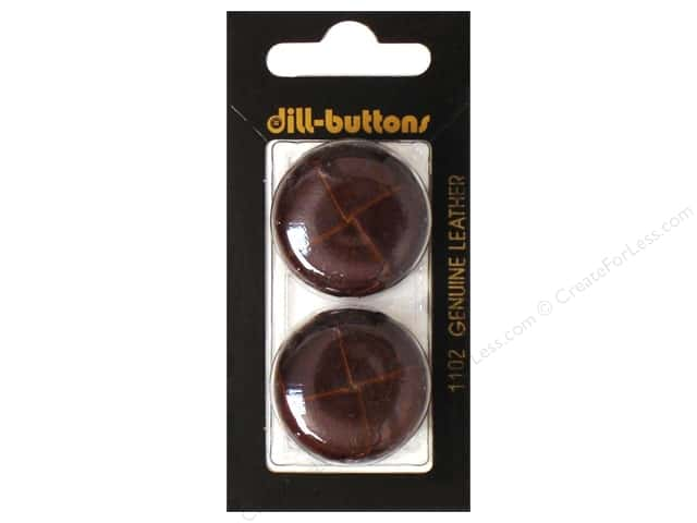 Dill Shank Buttons 1 1/8 in. Leather Brown #1102 2pc.