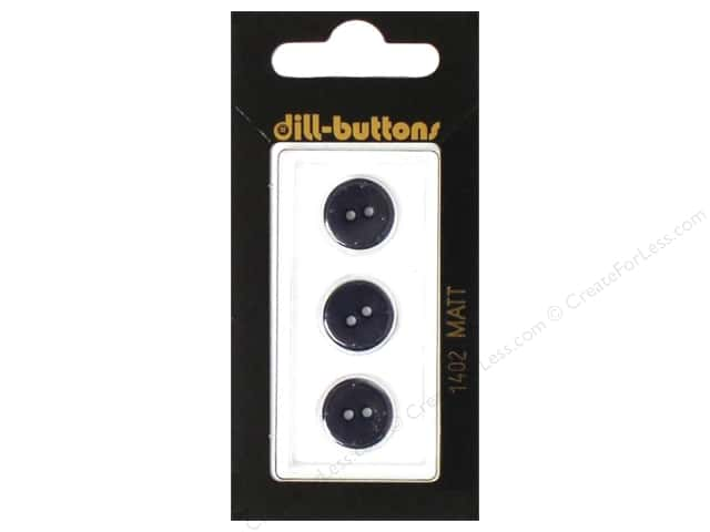 Dill 2 Hole Buttons 1/2 in. Navy #1402 3pc.