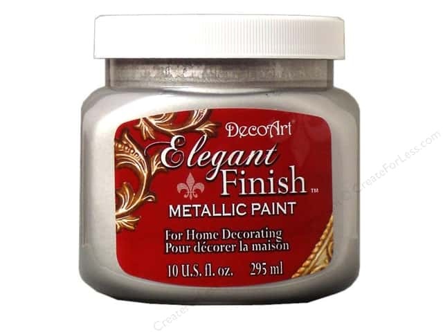 DecoArt Elegant Finish Metallic Paint 10 oz. Shimmer Silver