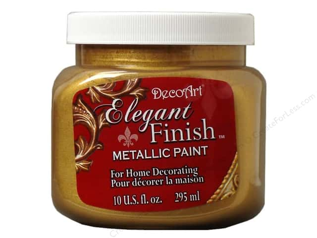 DecoArt Elegant Finish Metallic Paint 10 oz. Glorious Gold