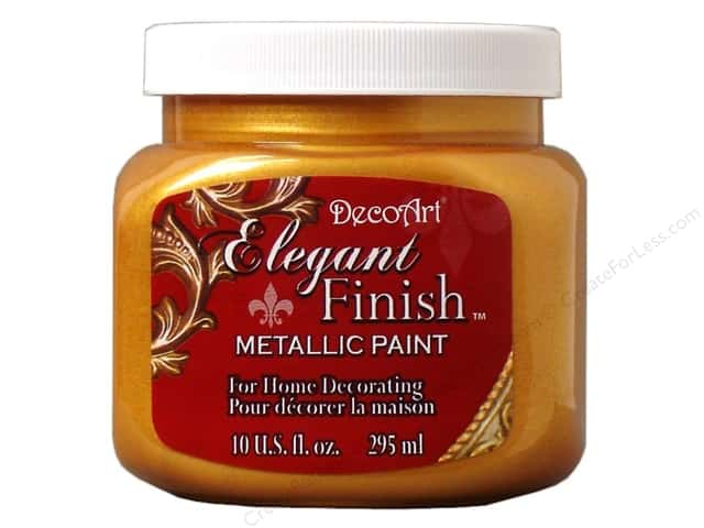 DecoArt Elegant Finish Metallic Paint 10 oz. Emperor Gold