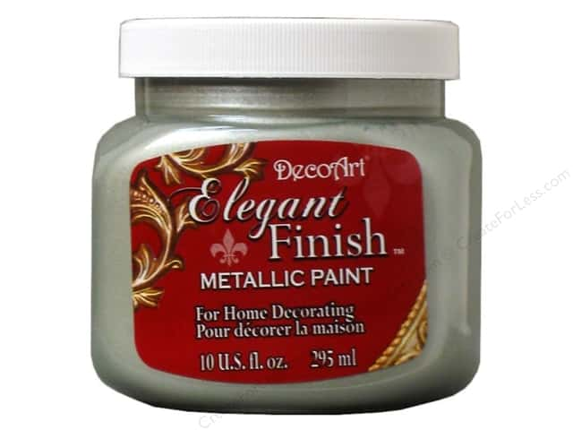 DecoArt Elegant Finish Metallic Paint 10 oz. Silver Sage