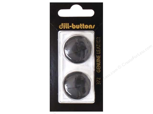 Dill Shank Buttons 7/8 in. Black Leather #372 2 pc.