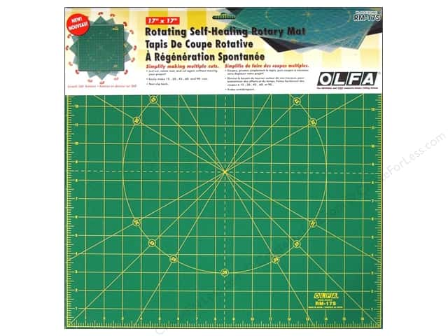"Olfa Spinning Rotary Mat 17"" Square"