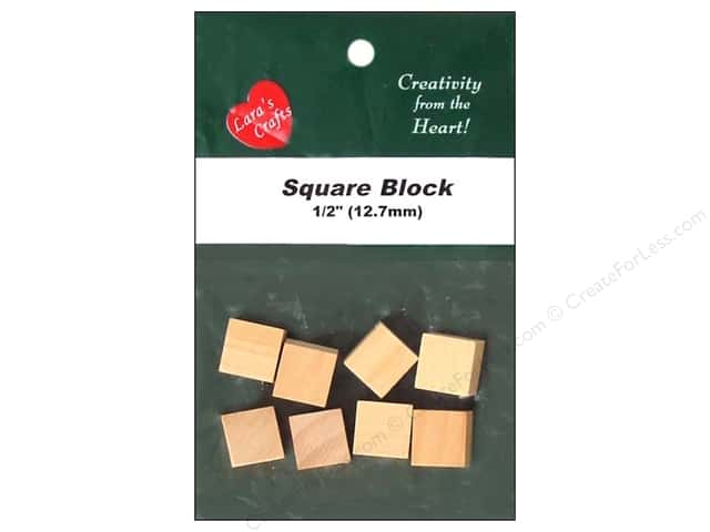 Lara's Wood Square Block 1/2 in. 8 pc.