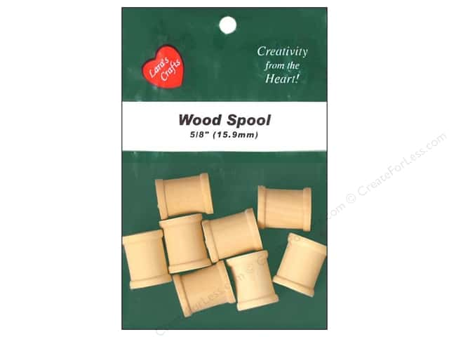 Lara's Wood Spool 5/8 in. 8 pc.