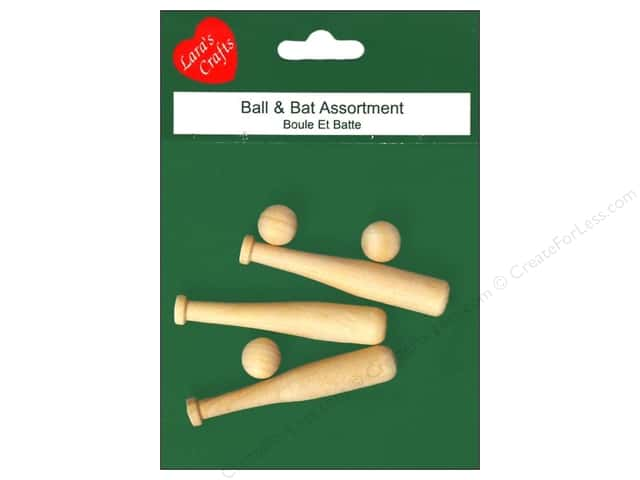 Lara's Wood Ball and Bat Assortment 6 pc.