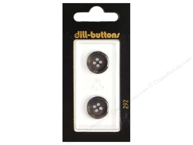 Dill 4 Hole Buttons 5/8 in. Grey #292 2pc.