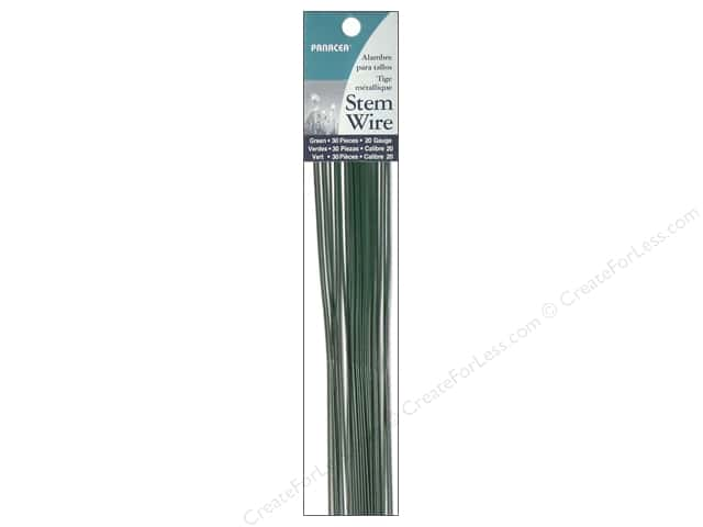 Panacea Stem Wire 18 in. 20-Gauge 30 pc. Green