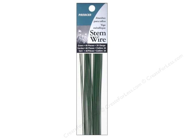 Panacea Stem Wire 18 in. 24-Gauge 40 pc. Green