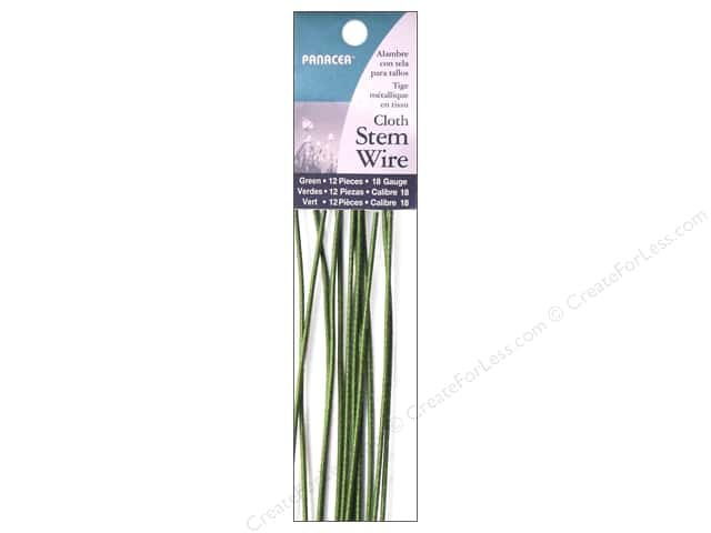 Panacea Cloth Stem Wire 18 in. 18-Gauge 12 pc. Green