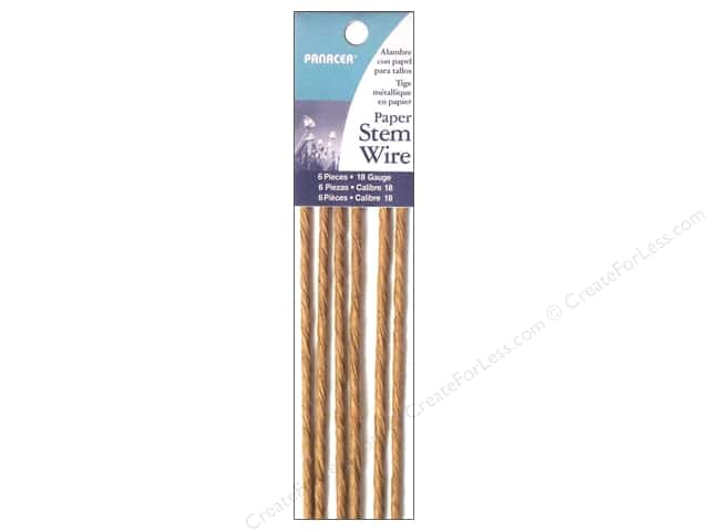 Panacea Paper Stem Wire 18 in. 18-Gauge 6 pc. Natural