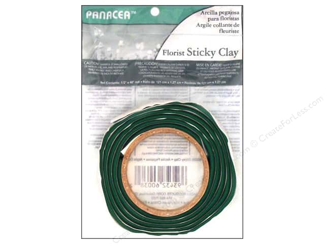 Panacea Floral Sticky Clay Roll 1/2 in. x 4 ft. Green