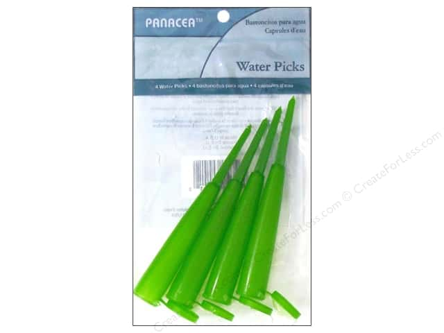 Panacea Floral Water Picks 4 pc. Green
