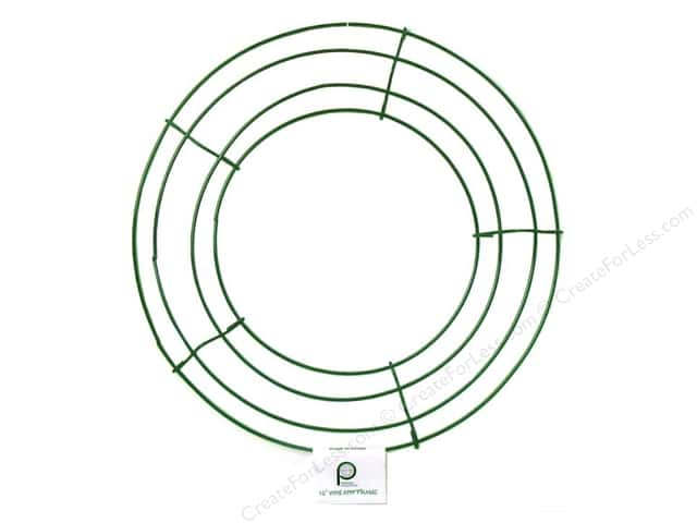 Panacea Box Wire Wreath Frame 10 in. Green
