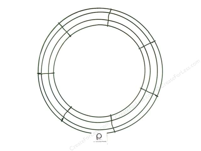 Panacea Box Wire Wreath Frame 14 in. Green (10 pieces)